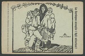 WWI-Italian-Orphanage-Postcard-FONDAZIONE-BRIGATA-SASSARI-Mario-Demurtas-Artist