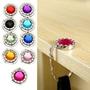 Top-Foldable-Folding-Bag-Holder-Crystal-Alloy-Purse-Handbag-Hook-Hanger