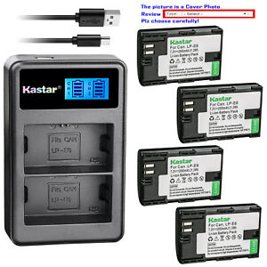 Kastar-Battery-LCD-Dual-Charger-for-Canon-LP-E6-LP-E6N-LC-E6E-amp-Canon-EOS-80D