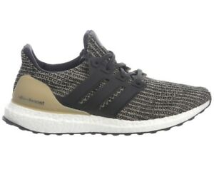 brand new 01fa1 b83c6 Details about Adidas Ultra Boost Mocha Mens BB6170 Black Raw Gold Primeknit  Shoes Size 10.5