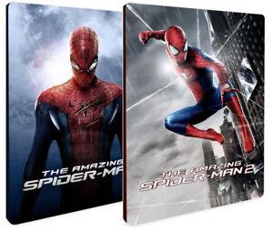 THE-AMAZING-SPIDER-MAN-COLLEZIONE-STEELBOOK-2-FILM-2-BLU-RAY-Andrew-Garfield