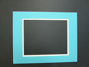 Picture Framing Mats 16x20 Mat For 11x14 Photo Turquoise Blue With