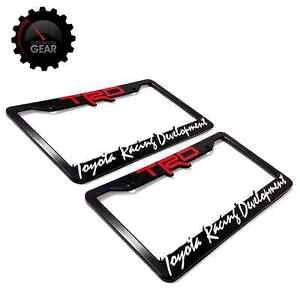 2 Trd Toyota Racing Development License Plate Frames 3 D
