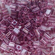 Miyuki 3mm Cube Seed Beads Transparent Smoky Amethyst SB3-142 10g