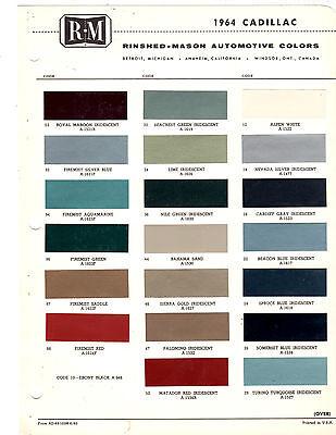 1964 Cadillac Colors