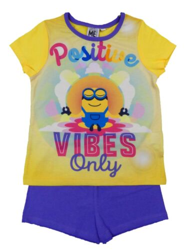Kids Minions Despicable Me Shorts T Shirt Shirt Pyjama Set 2-10 Years