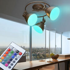 Led Ceiling Lamp Hallway Lighting Dimmable RGB Remote Control Spotlight Rotating
