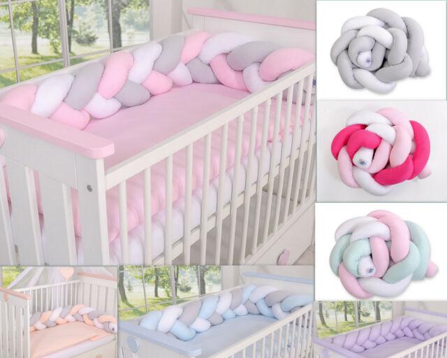 BABY KIDS BEDDING SET BUMPER QUILT PILLOW FITTED SHEET COT BED 140 X 70 4 pcs