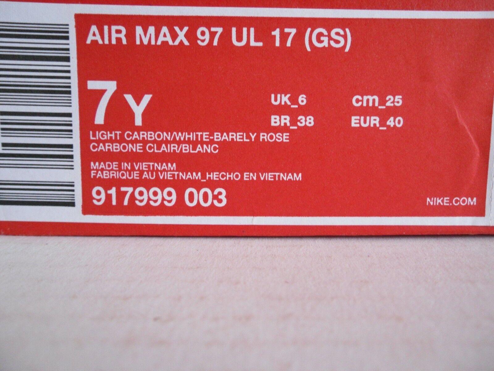 NIKE AIR MAX MAX MAX 97 UL 17 (GS) CARBON NAVY-ROSE SZ 7Y-Donna SZ 8.5 [917999-003] f92bbf