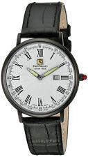 Steinhausen Men's Dunn Luxe Black Stainless Steel / Leather Watch GWL493LWLA