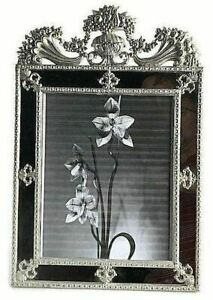 Terragrafics-Victorian-Beaux-Arts-Mirrored-Picture-Frame-Metal-Standing-10x8