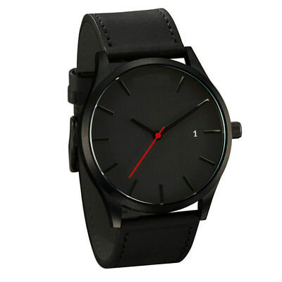 Fashion Watch Men's Stainless Steel Quartz Sport Analog Band Leather Wrist Watch