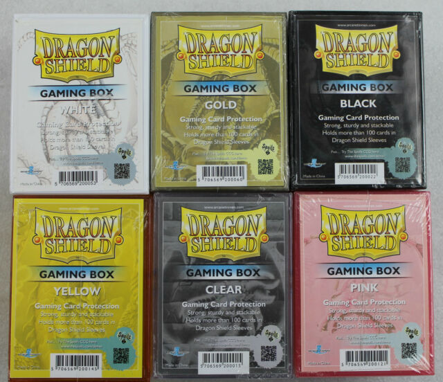 Box for Dragon Shield Cards inkl.100 Cases choose Colour