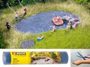 NOCH-60850-See-Folie-Teich-Wasser-410x260mm-Landschaftsbau-G-0-H0-TT-N-Z-Neu