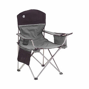 Image Is Loading Coleman Oversized Black Camping Lawn Chairs Cooler 2