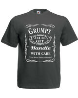 GRUMPY OLD GIT you have been warned T shirt sizes S - XXL