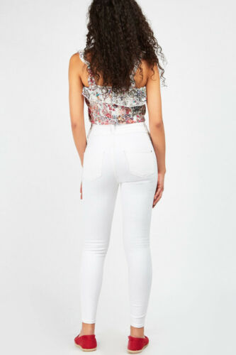 New Look Womens High Waisted Skinny Slim Yazmin Jeans in White Sizes 6 to 18
