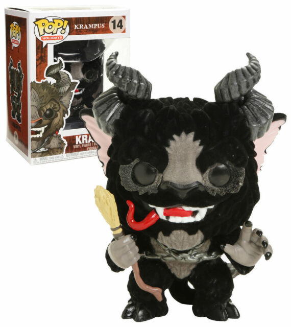FUNKO POP HOLIDAYS #14 KRAMPUS (FLOCKED) VAULTED VINYL FIGURE~FAST POST 🛎️