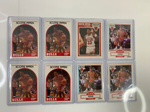 Lot of 8 - Scottie Pippen - NBA Basketball Cards