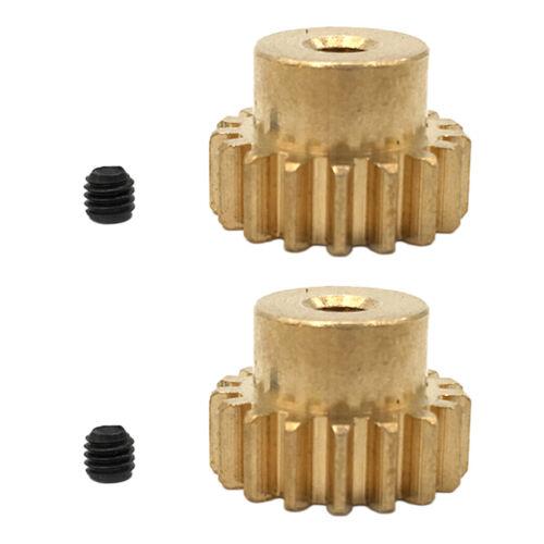 4pcs 3.175mm 17 Tooth Brass Motor Gear Pinion Cog DIY RC Model Toy Accessory