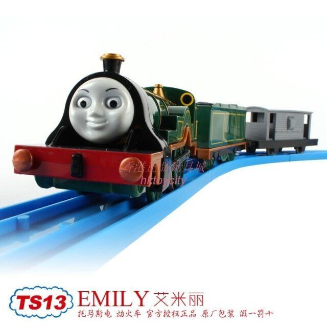 TOMY TRACKMASTER THOMAS & FRIENDS TS-13 EMILY WITH 2 TRUCKS MOTORIZED TRAIN