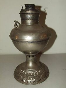 Antique 19th c edward miller lamp co victorian nickel kerosene oil image is loading antique 19th c edward miller lamp co victorian mozeypictures Image collections
