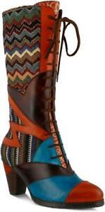 L-039-Artiste-by-Spring-Step-Women-039-s-Malag-Boot-Orange-Multi-NEW-IN-BOX