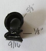 "Black Rubber Edge Trim Seal Lock 1/8"" x 5/8"" x 9/16"" Bulb A Side Door RV Truck"