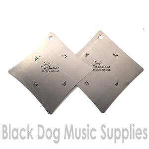guitar fretboard fingerboard radius gauge 2 piece set 8 radius profiles ebay. Black Bedroom Furniture Sets. Home Design Ideas
