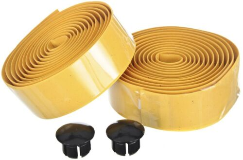 Red Yellow Quality Cork Style Racing Bike Handlebar Tape End Plugs Blue White