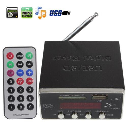 Digital Audio Power Amplifier Home Hi-Fi Stereo MP3 Player Support SD USB MMC