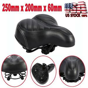 WIDE EXTRA SADDLE SEAT COMFORT BIG BUM BIKE BICYCLE GEL CRUISER SPORTY SOFT SEAT