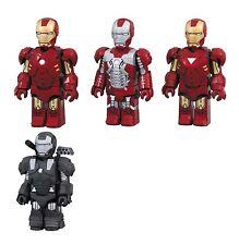 Iron Man 2 Mark MK 4 5 6 War Machine Kubrick figure set Medicom