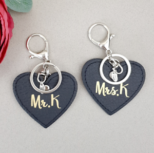 Keyring Couple Friend Gift Thank You for Loving Me As Your Own Letter Keychain