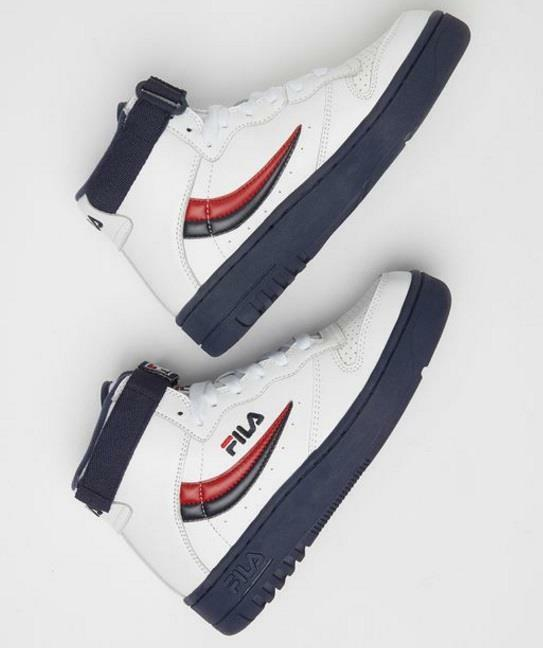 FILA FX-100 LET IT REIGN 1VB90-125 WHITE/NAVY BLUE/FIRE RED - STRAP - LEATHER