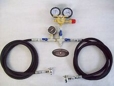 NITROGEN REGULATOR DUAL 8' HOSE SHOCK FILL KIT 400 TOOL STRUT FOX ORI KING SAW