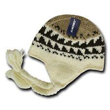 Decky Peruvian Braided Ear Tails Chullo Beanie Beanies Cap Hat Hats Ski Winter