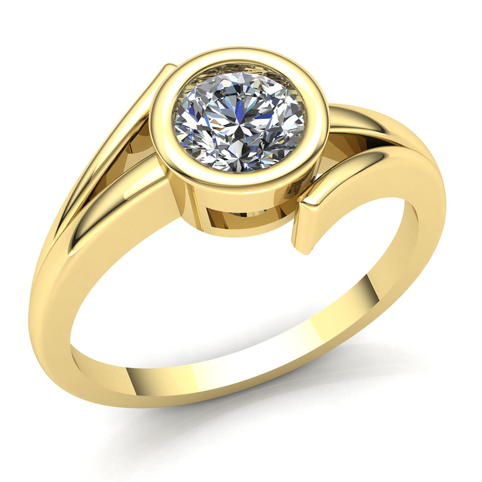 0.5ct Round Cut Diamond Ladies Solitaire Anniversary Engagement Ring 14K gold
