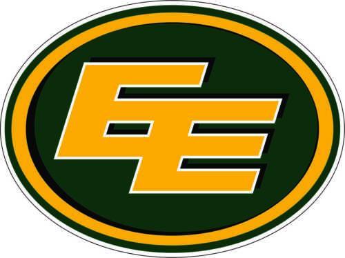 "Edmonton Eskimo CFL Football bumper sticker large decor vinyl decal 11.5/""x 8.5/"""