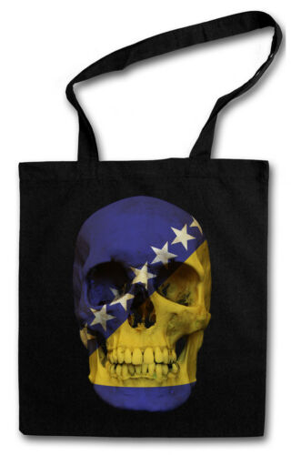 CLASSIC BOSNIA SKULL FLAG STOFFTASCHE Flagge Schädel Banner Fahne Bosnien