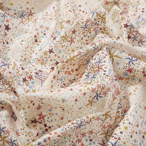 quilt dressmaking star christmas Liberty ~ Adelajda C Yellow Tana Lawn Fabric