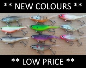 NEW-COLOURS-10-Vibe-Soft-Plastics-Fishing-Lures-90mm-Mullet-Barra-FREE-SHIPPING
