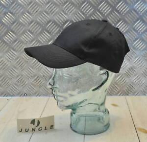 100-Cotton-Adjustable-BLACK-Baseball-Hat-Cap-No-logos-New