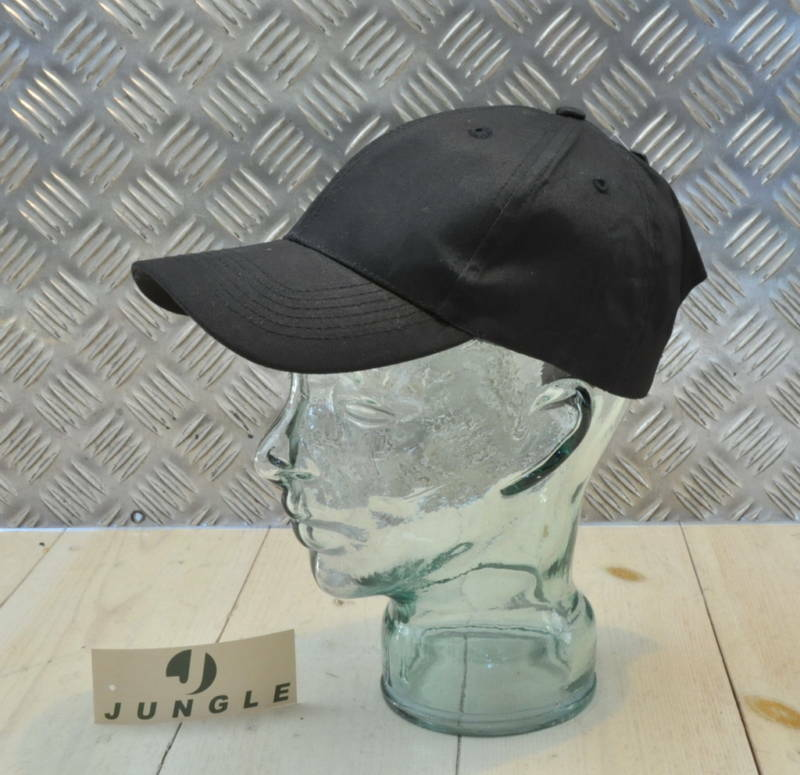 100% Baumwolle Verstellbar Schwarz Baseballkappe / Kappe Nein Logos - Neu