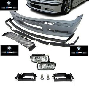 PARECHOC-PARE-CHOC-AVANT-M3-EN-ABS-BMW-SERIE-3-E36-ANTIBROUILLARD-CACHE