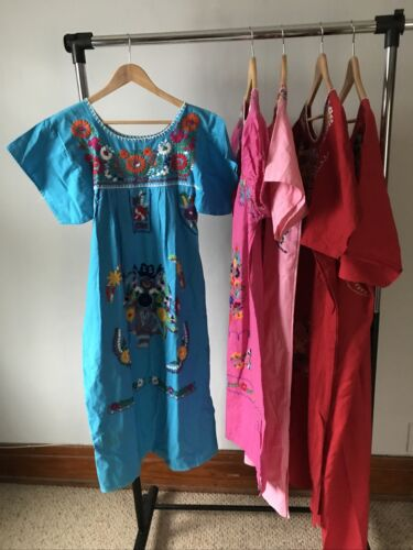 Lot 6 - Vintage Mexican Embroidered Dresses