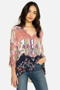 Johnny-Was-Patch-Button-Down-Printed-Blouse-C16718-New-Boho-Chic