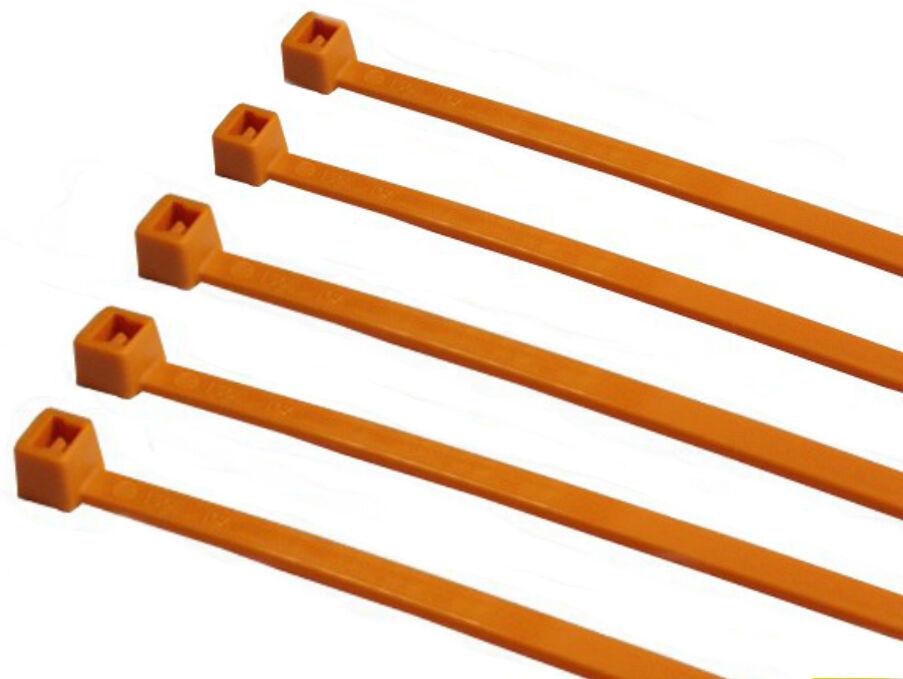 Cable Zip Ties Wraps Virgin Nylon 430mm x 9.0mm TR15 Orange 500pcs Self-Locking