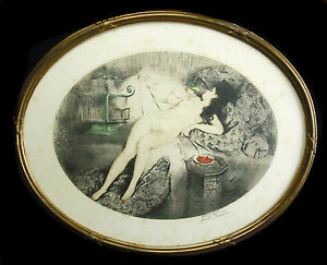 034-Les-Cherries-034-Signed-Paul-Emile-Felix-Naked-Woman-Nude-c1930-120-350