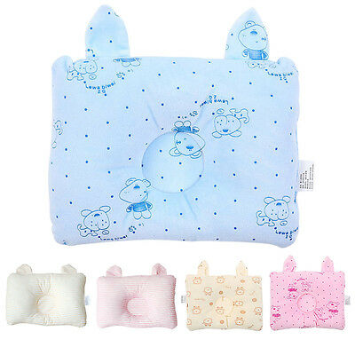 New Baby Pillow Rectangle Soft Infant Newborn Prevent Flat Head Cushion Bedding